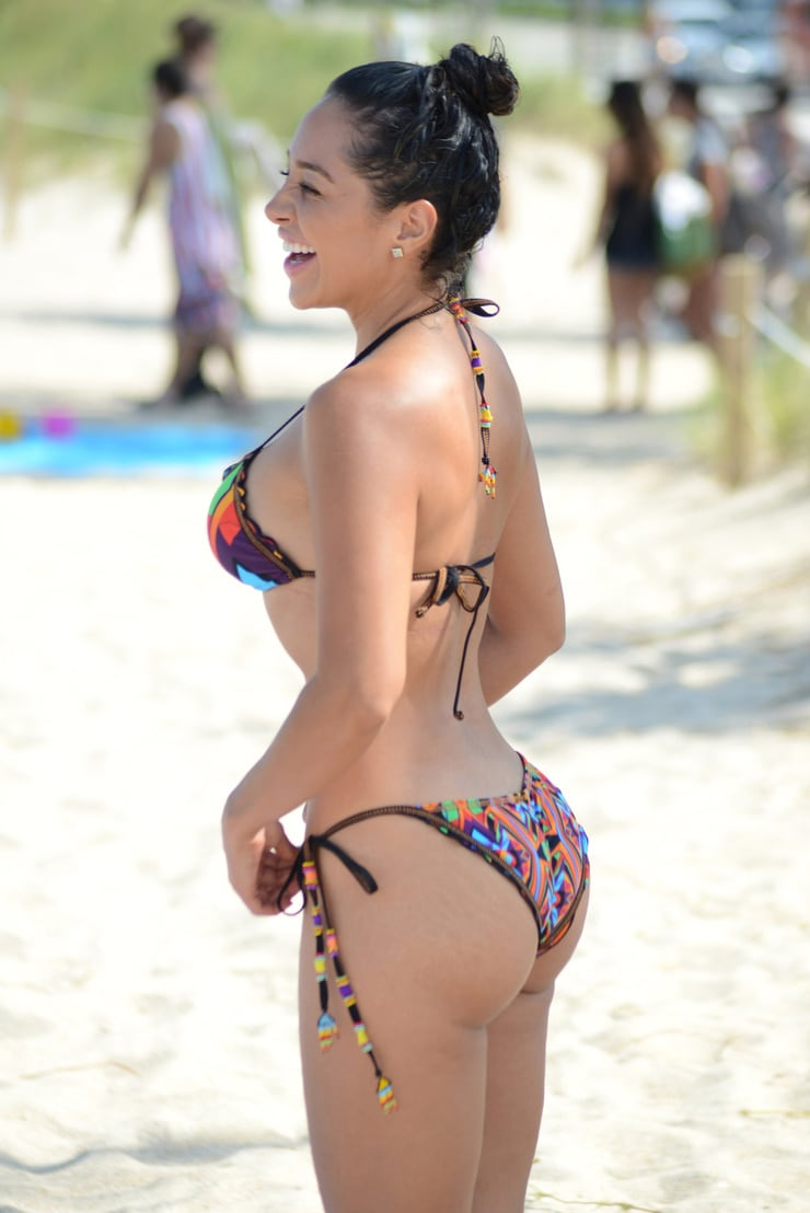 Andrea Calle in Bikini Top and Shorts Pic 20 of 35