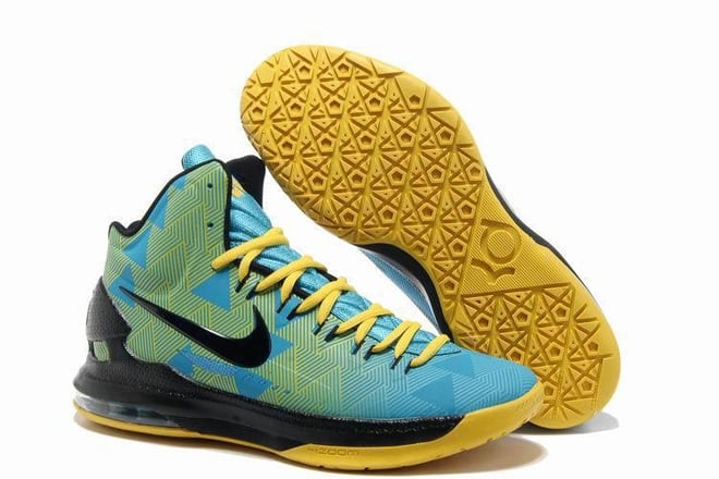 brand new 34bc1 ed697 Picture of Kevin Durant N7 Nike Zoom Kd V dark turquoise blackened blue- black-varsity maize Colors