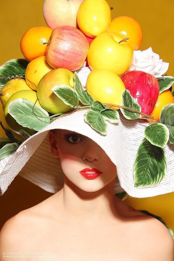 Шляпа фрукты своими руками 63