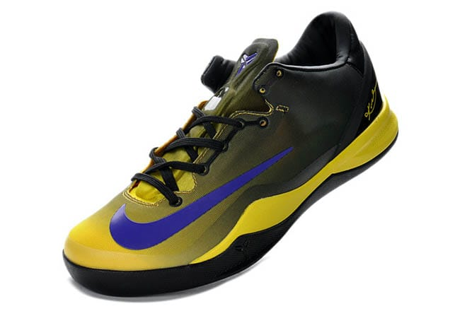 buy popular 8605b 4cc8b Picture of Nike Zoom Kobe 8 System Mambacurial Black Yellow Purple Shoes