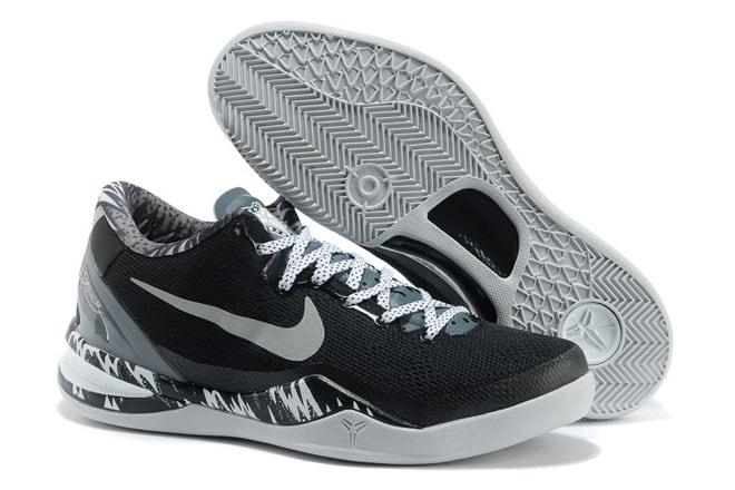 16f68c577736 Picture of Nike Zoom Kobe 8 Black Metallic Silver Cool Grey Kobe Bryant  Shoes