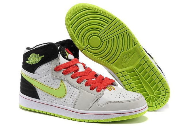 9ccb83464f0d Picture of Air Jordan 1 Retro 93 White Black - Electric Green   Neutral  Grey - Gym Red Sneakers For Men cheap sale