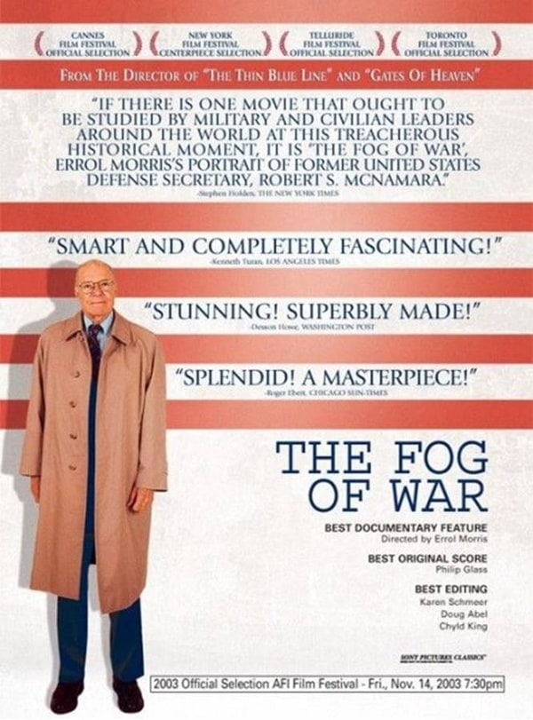 the fog of war: eleven lessons from the life of robert s. mcnamara essay It is the story of america as seen through the eyes of the former secretary  the  fog of war: eleven lessons from the life of robert s mcnamara  philip glass,  the film is a disquieting and powerful essay on war, rationality,.