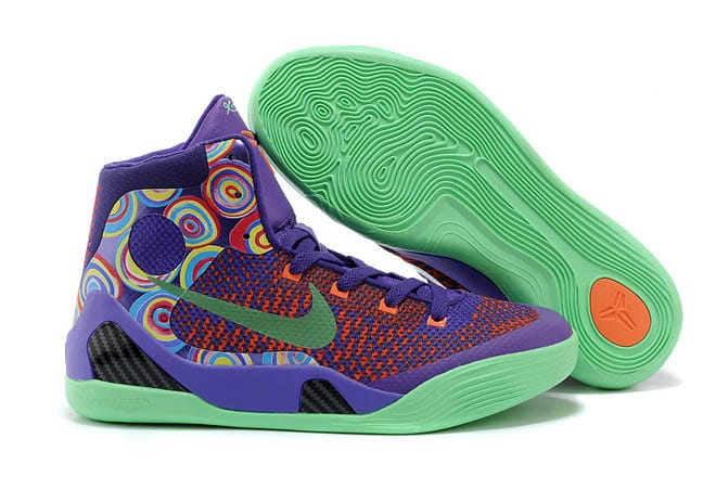 sale retailer 46c65 e82ed ... sale picture of latest nike kobe 9 elite vivid pink purple venom turf  orange shoes for