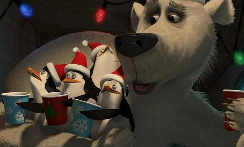 The Madagascar Penguins in a Christmas Caper