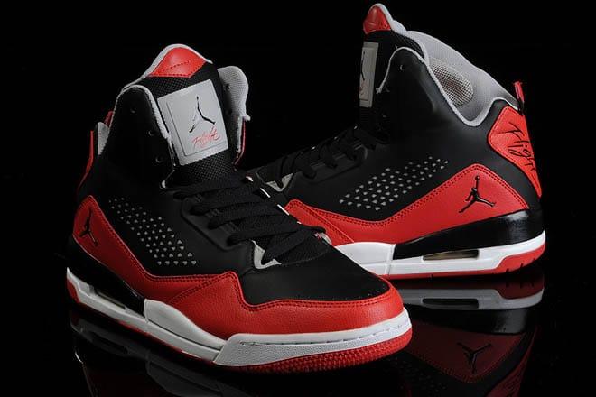 Jordan Flight 45 High Black Gym Red Cement Gray : Jordan flight elisamurciaartengo