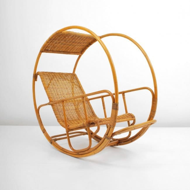 Cool Italian Rattan Rocking Chair Gmtry Best Dining Table And Chair Ideas Images Gmtryco