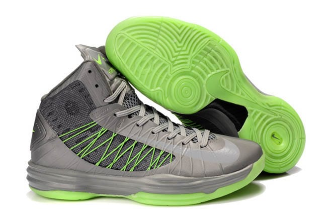 new style 6d967 a82ea Picture of Nike Hyperdunk X 2012 Wolf Grey Atomic Green Men Shoes