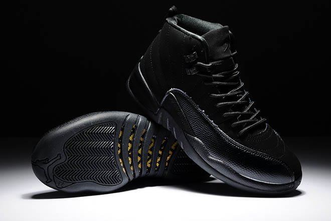 best service 8e4f9 7bd69 Picture of Drake OVO Air Jordan Retro 12 All Black Men Size ...
