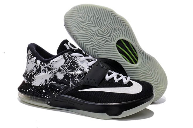 black and white kevin durant sneakers