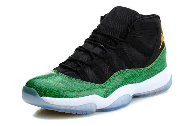 best service af825 1a240 Picture of Air Jordan Retro 11 Green/Black/White