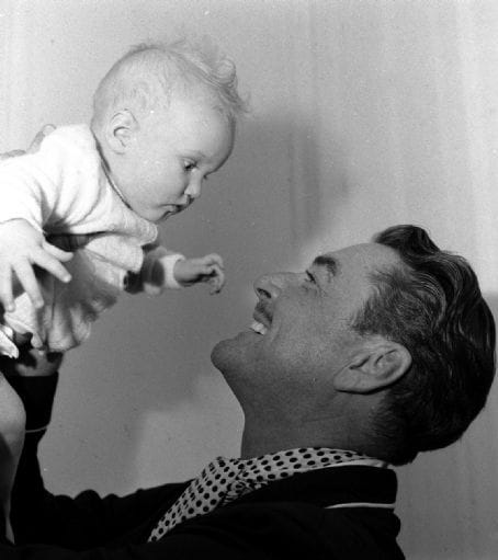 Errol Flynn with his daughter,Deirdre