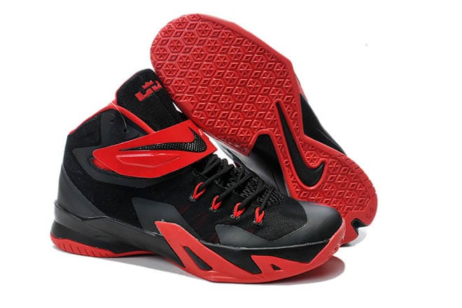 c732d21b643c Picture of Nike Brand University Red Hyper Crimson and Black Color Mens  Zoom LeBron Soldier 8 Shoes for Sale