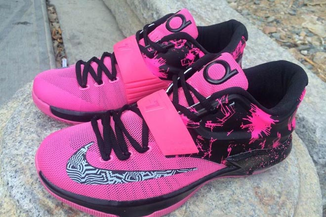 adfc101174b5 Picture of Zoom Kevin Durant 7 Mens Fireworks Sneakers Pink Black KD VII
