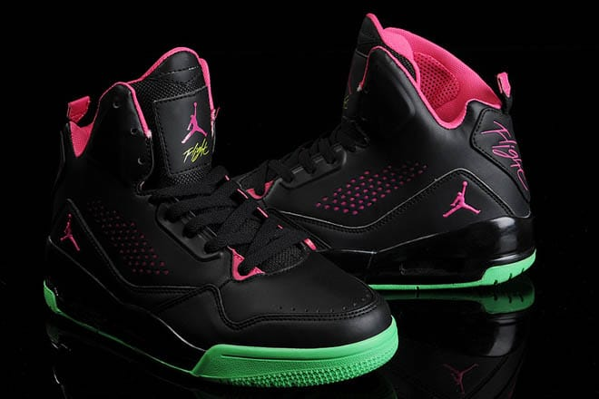6efa6fb8b839 Picture of Black Vivid Pink Green High Sneakers Nike Air Jordan Flight 45  for Men