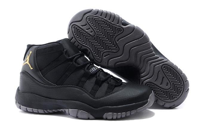 big sale 5976c dea4b Picture of Air Jordan Retro XI (11) All Black 2015 Latest Sports Shoes for  Men