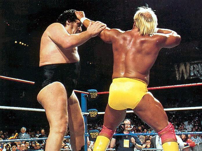 Andre the giant vs hulk hogan gif