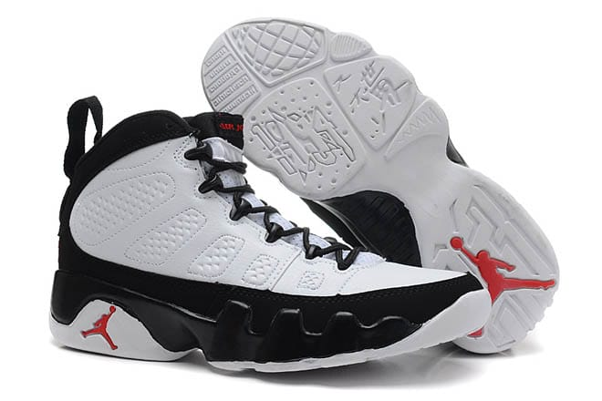 separation shoes b534d ad42c Picture of White Black True Red Colors Womens Air Jordan 9 Retro Training F