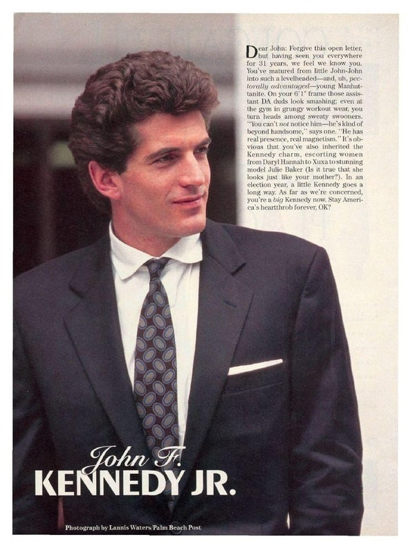 john f kennedy jr has been added to these lists