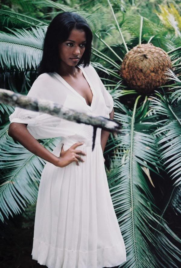 beautiful dark indonesian woman